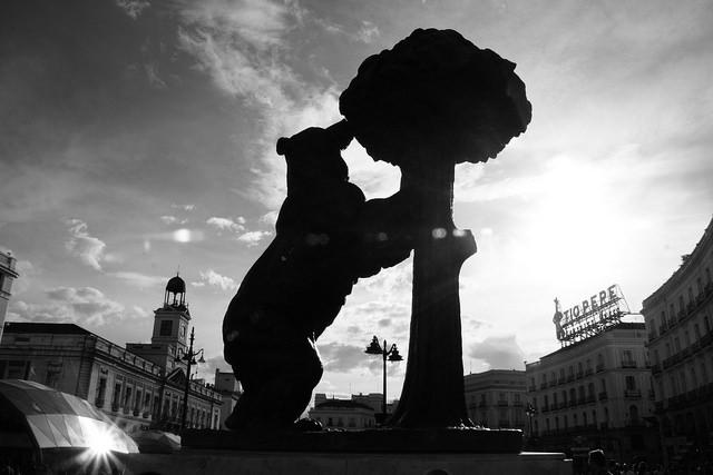 niedzwiedz i drzewo truskawkowe w Madrycie