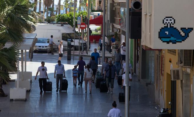 sztuka uliczna Malaga, Invader sztuka